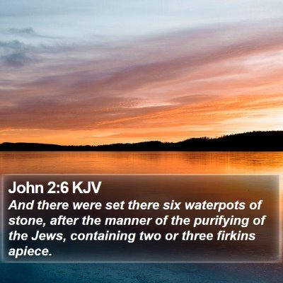 John 2:6 KJV Bible Verse Image