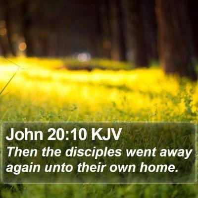 John 20:10 KJV Bible Verse Image