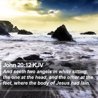John 20:12 KJV Bible Verse Image
