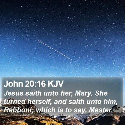 John 20:16 KJV Bible Verse Image