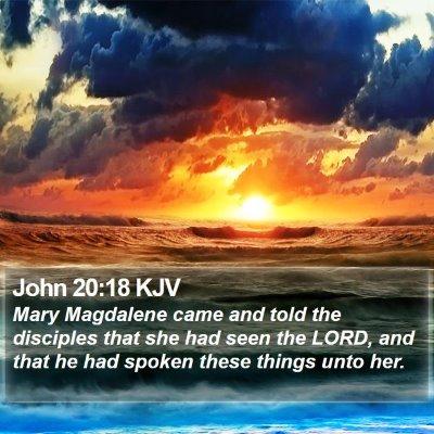 John 20:18 KJV Bible Verse Image