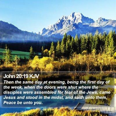 John 20:19 KJV Bible Verse Image