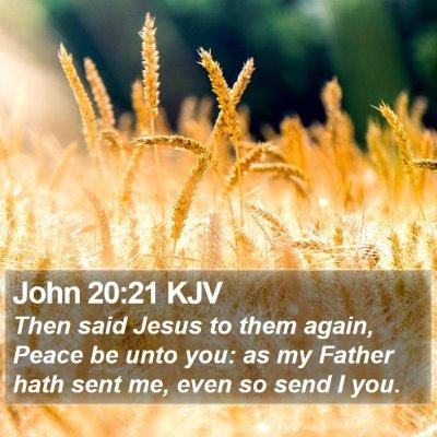 John 20:21 KJV Bible Verse Image