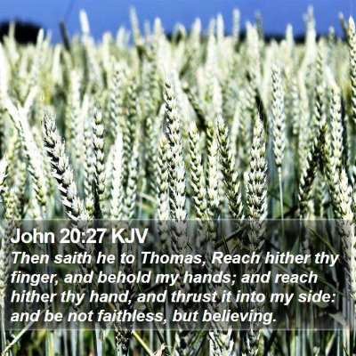 John 20:27 KJV Bible Verse Image