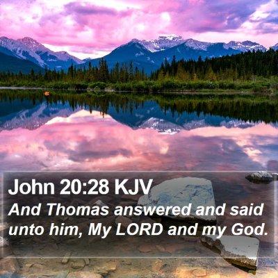 John 20:28 KJV Bible Verse Image