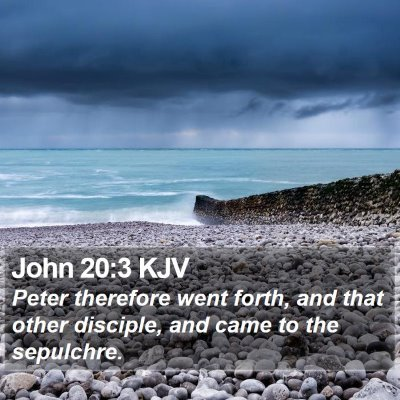 John 20:3 KJV Bible Verse Image