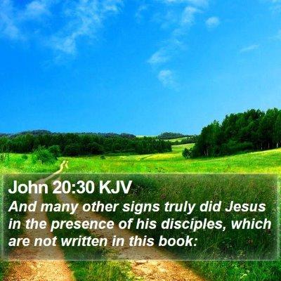 John 20:30 KJV Bible Verse Image