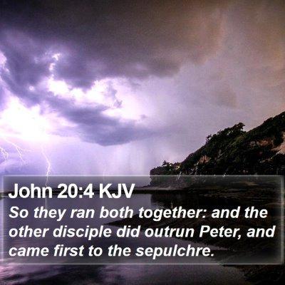 John 20:4 KJV Bible Verse Image