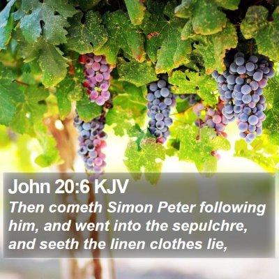 John 20:6 KJV Bible Verse Image
