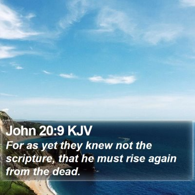 John 20:9 KJV Bible Verse Image