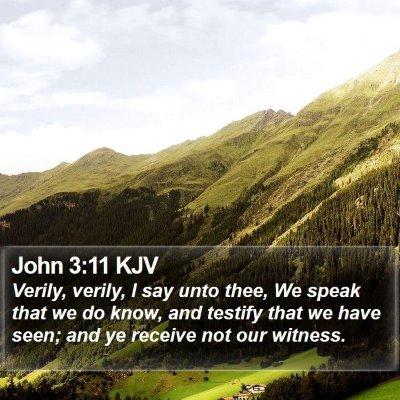 John 3:11 KJV Bible Verse Image