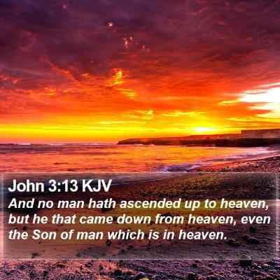 John 3:13 KJV Bible Verse Image