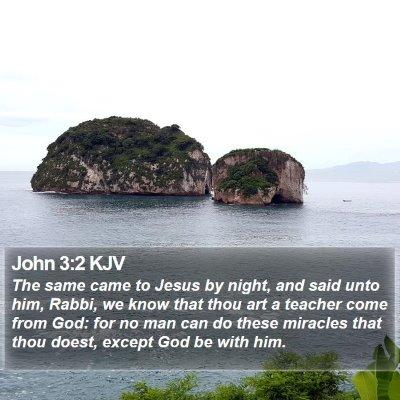 John 3:2 KJV Bible Verse Image