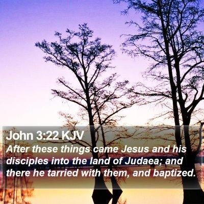 John 3:22 KJV Bible Verse Image
