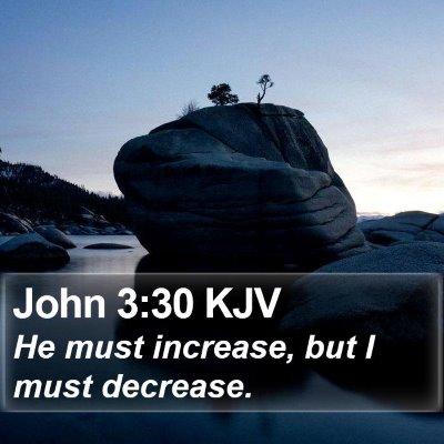John 3:30 KJV Bible Verse Image
