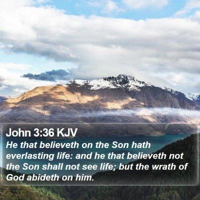 John 3:36 KJV Bible Verse Image