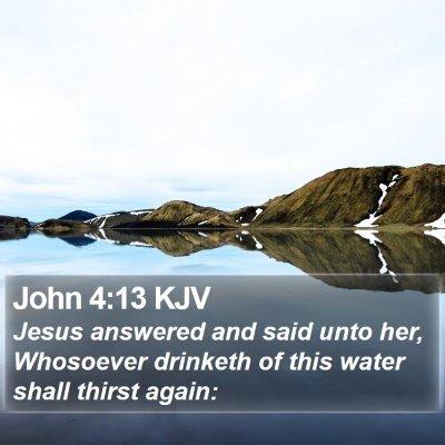 John 4:13 KJV Bible Verse Image