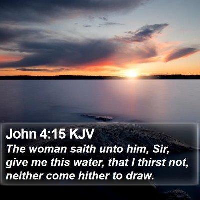 John 4:15 KJV Bible Verse Image