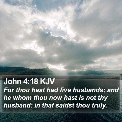 John 4:18 KJV Bible Verse Image
