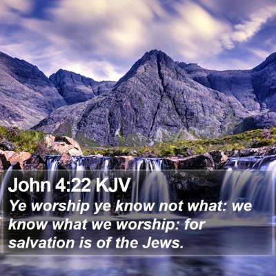 John 4:22 KJV Bible Verse Image