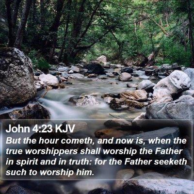 John 4:23 KJV Bible Verse Image
