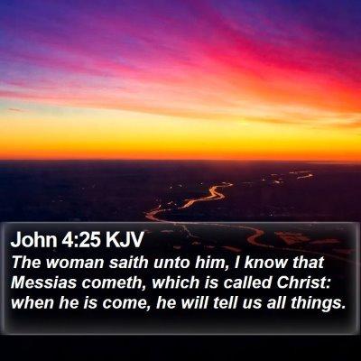 John 4:25 KJV Bible Verse Image