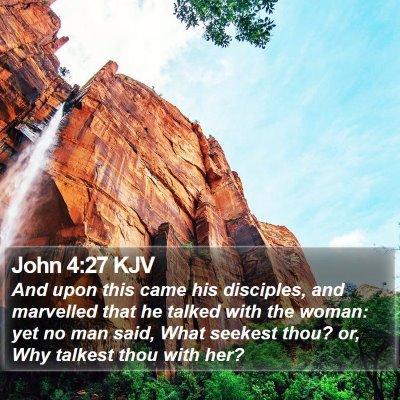 John 4:27 KJV Bible Verse Image