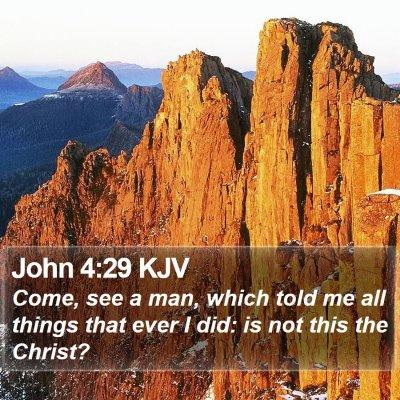 John 4:29 KJV Bible Verse Image