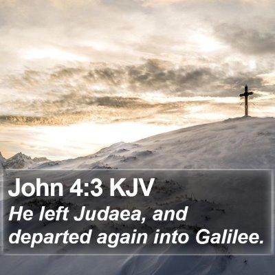John 4:3 KJV Bible Verse Image