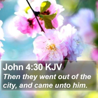 John 4:30 KJV Bible Verse Image