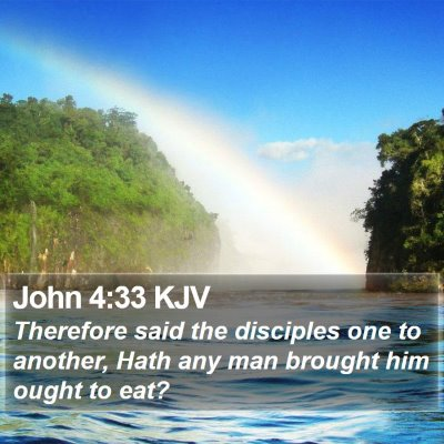 John 4:33 KJV Bible Verse Image
