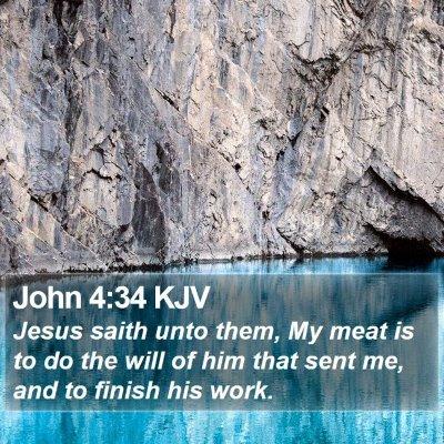 John 4:34 KJV Bible Verse Image