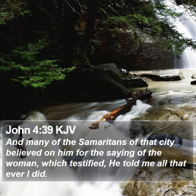 John 4:39 KJV Bible Verse Image