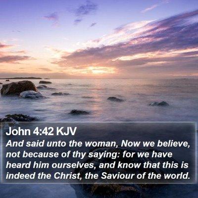John 4:42 KJV Bible Verse Image