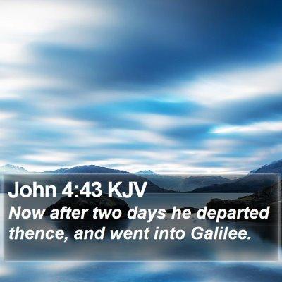 John 4:43 KJV Bible Verse Image