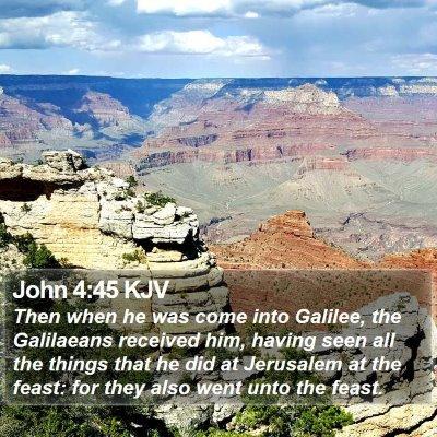 John 4:45 KJV Bible Verse Image
