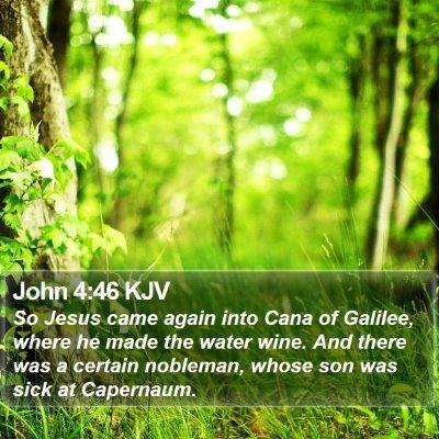 John 4:46 KJV Bible Verse Image