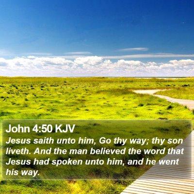 John 4:50 KJV Bible Verse Image