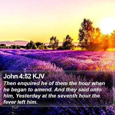 John 4:52 KJV Bible Verse Image