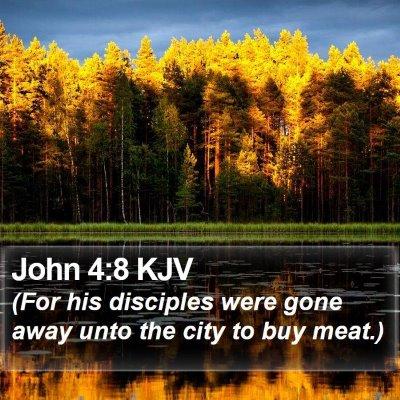 John 4:8 KJV Bible Verse Image