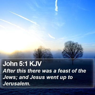 John 5:1 KJV Bible Verse Image