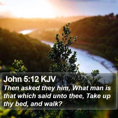 John 5:12 KJV Bible Verse Image