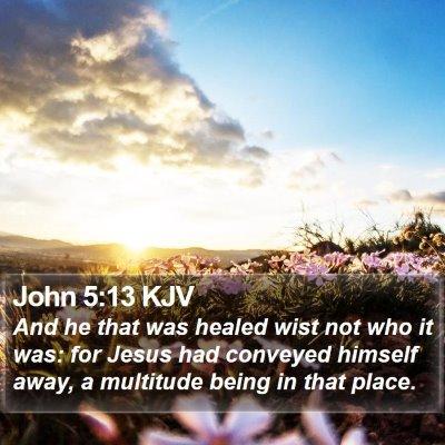John 5:13 KJV Bible Verse Image