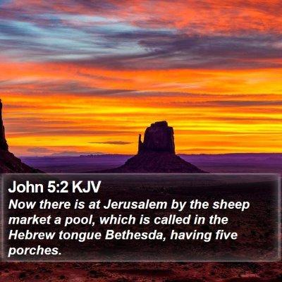 John 5:2 KJV Bible Verse Image