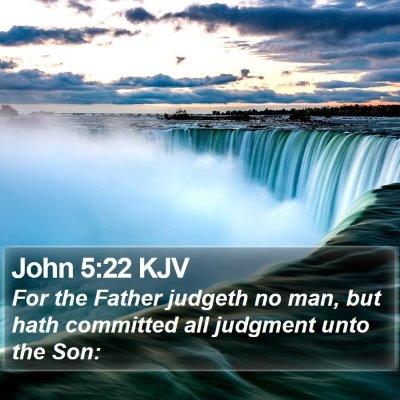 John 5:22 KJV Bible Verse Image