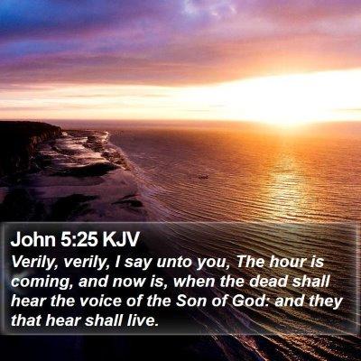 John 5:25 KJV Bible Verse Image