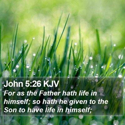 John 5:26 KJV Bible Verse Image