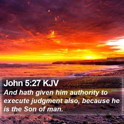 John 5:27 KJV Bible Verse Image