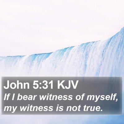 John 5:31 KJV Bible Verse Image