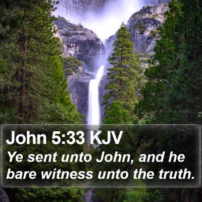 John 5:33 KJV Bible Verse Image